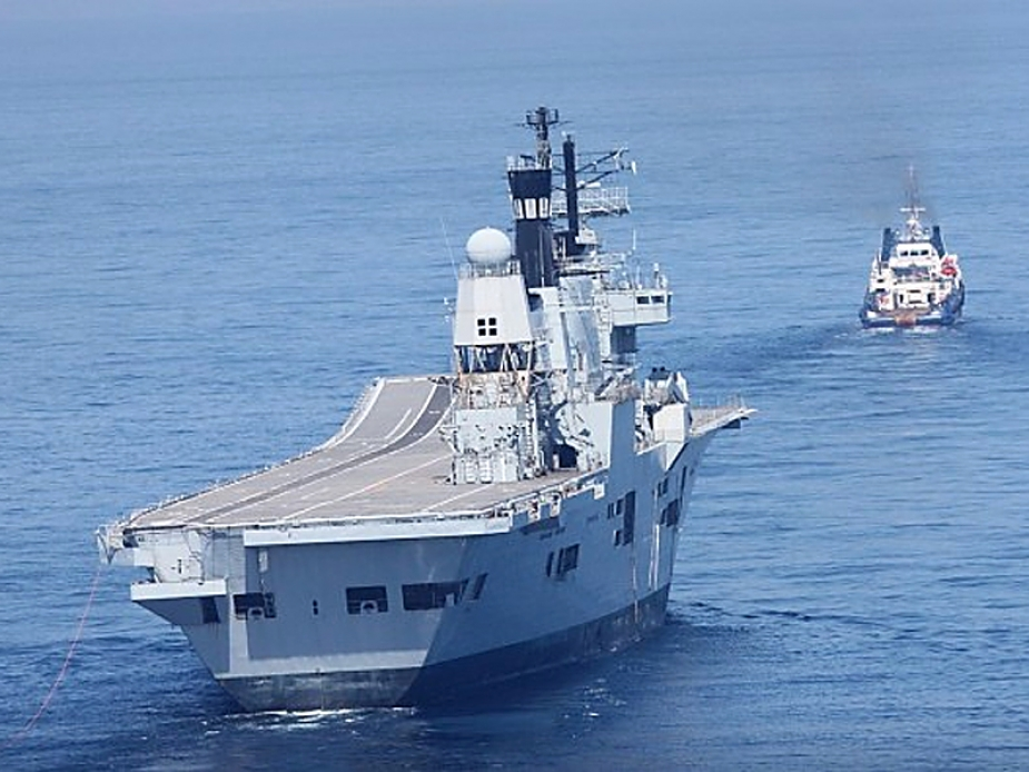 HMS ARK ROYAL towage by OSV CHRISTOS XXIII