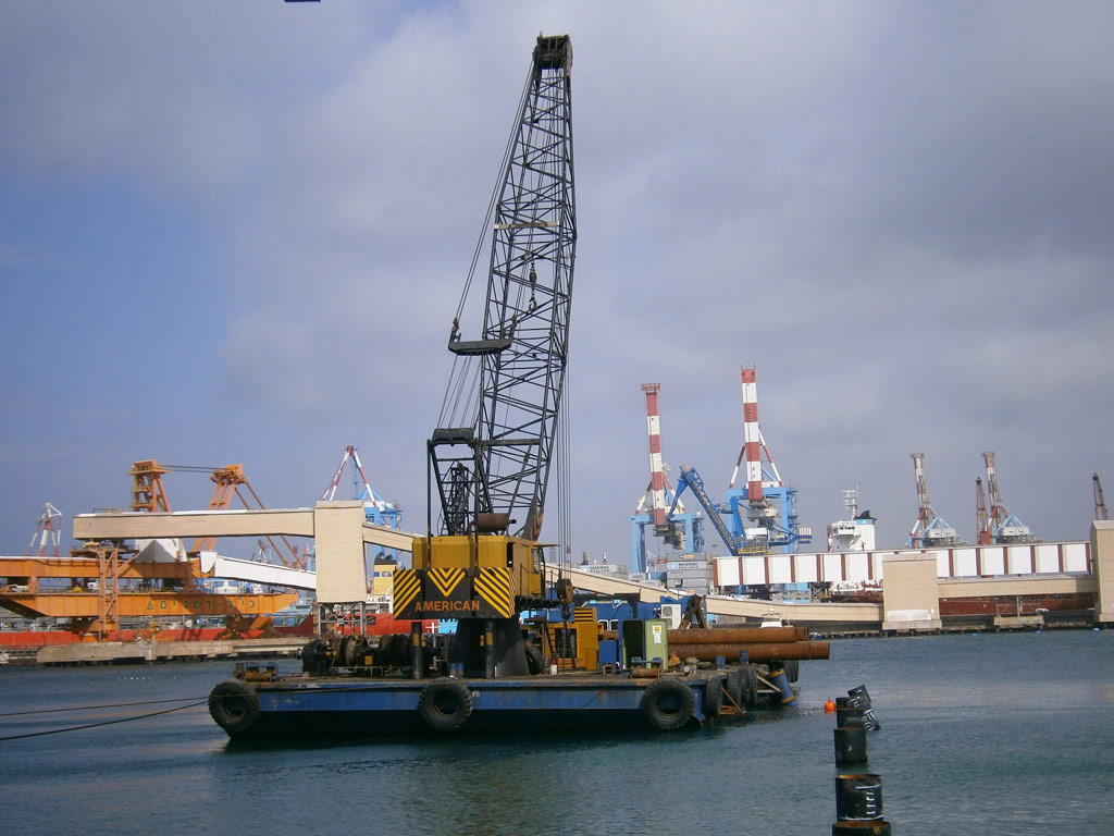 Floating Crane Ignatios Iv Marine Projects In Adriatic Sea