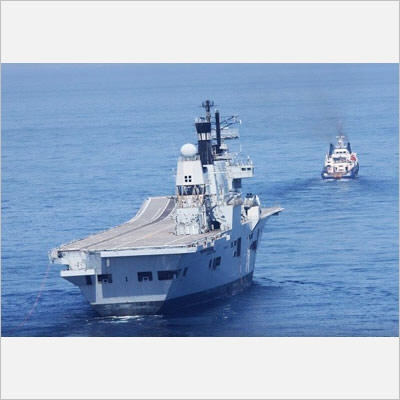 HMS ARK ROYAL towage by OSV CHRISTOS XXIII 11-6-13