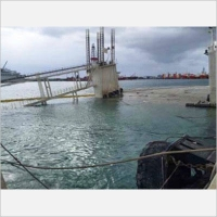 Refloat of Caisson Barge in Limassol 19-2-2015