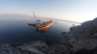 WRECK REMOVAL OPERATION OF M/V GOODFAITH, ANDROS ISL. GREECE 28-9-2015